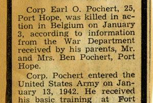 Earl Pochert - Death Notice