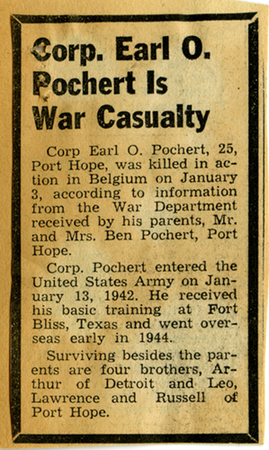 Earl Pochert - Death Notice