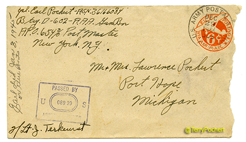 Earl Pochert Letter - Battle of the Bulge