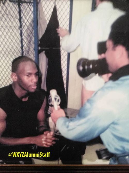 Herman McKalpain interviewing Michael Jordan