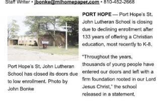 St. John Lutheran School - Port Hope, Michigan