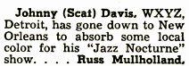 "Johnny ""Scat"" Davis"