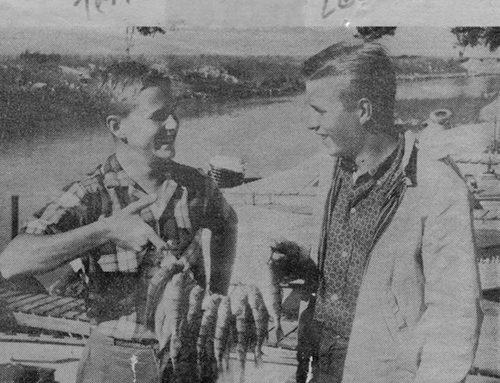 Terry Pochert and Lee Pochert Fishing at Port Hope, Michigan