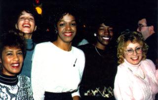 "Sylvia Struthers, Muriel ""Pat' Latimer, Lori Garbin (nee Kirby), Vivian Hoze, Anita Shiplett, Ken Smith"