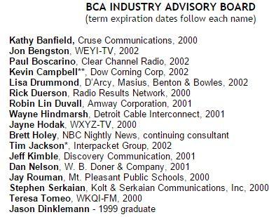 BCA Industry Advisory Baord
