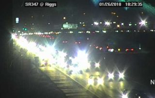 Accident at Riggs going south on AZ347 - January 26, 2018 6:30pm