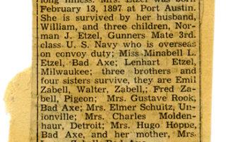 Martha Etzel Obituary