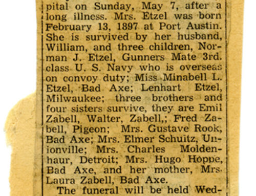 Mrs. Martha Etzel Obituary