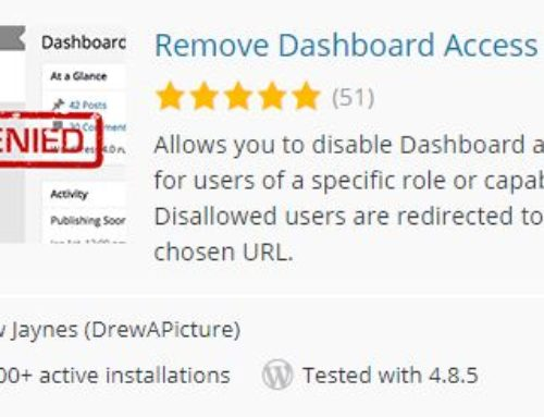 Limiting Dashboard Access in WordPress