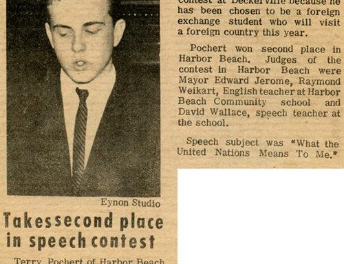 Terry Pochert – Speech Contest – 1966
